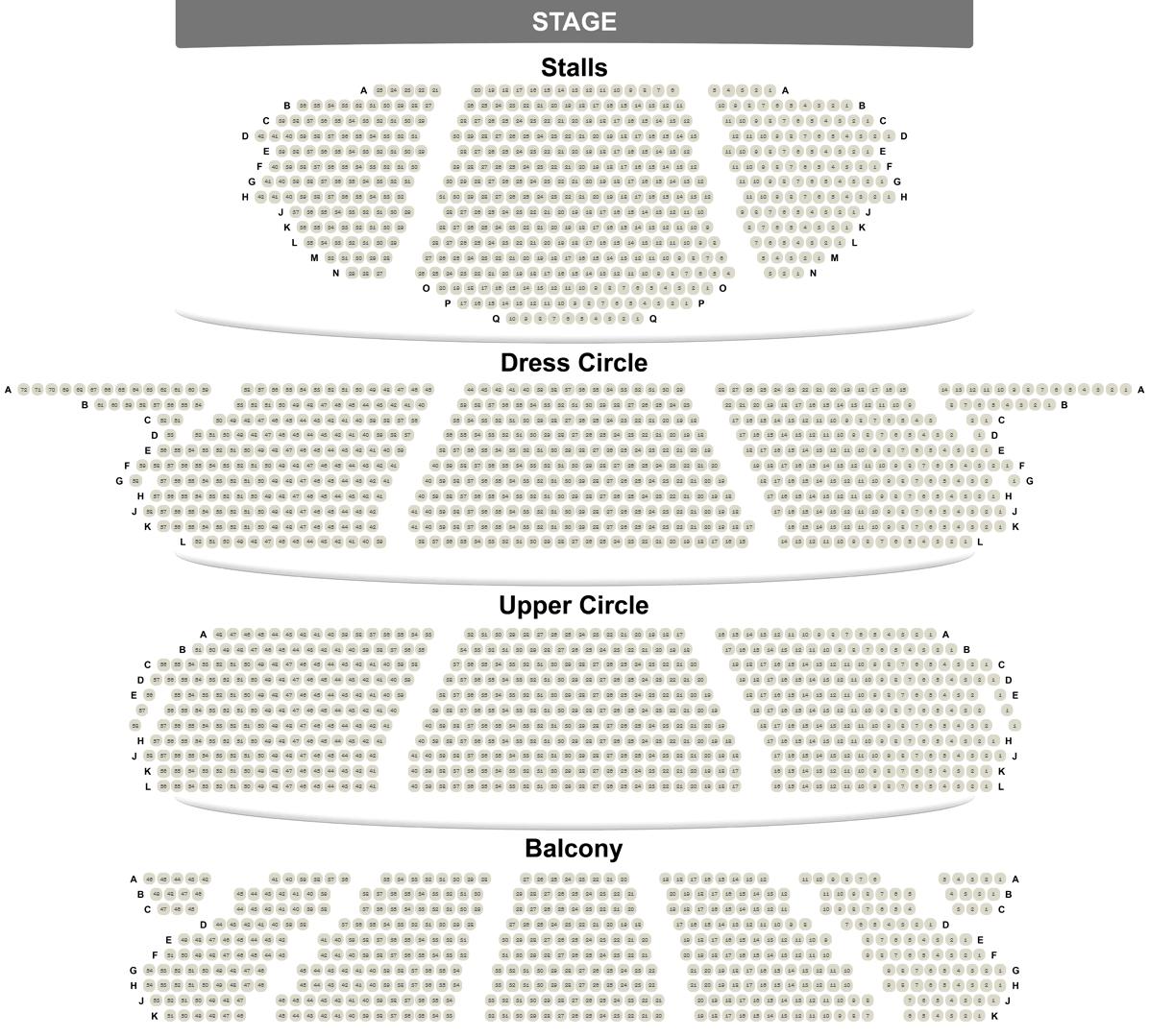 The London Coliseum seating plan