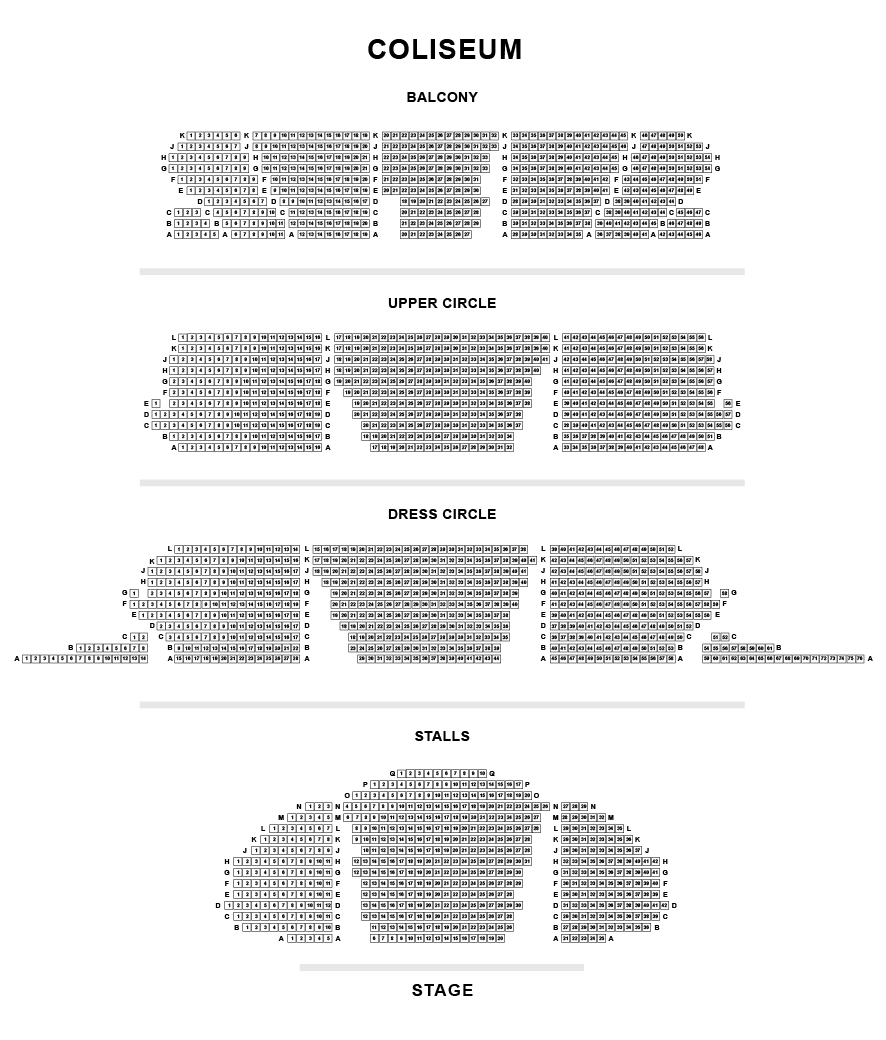 Seating Plan | The London Coliseum